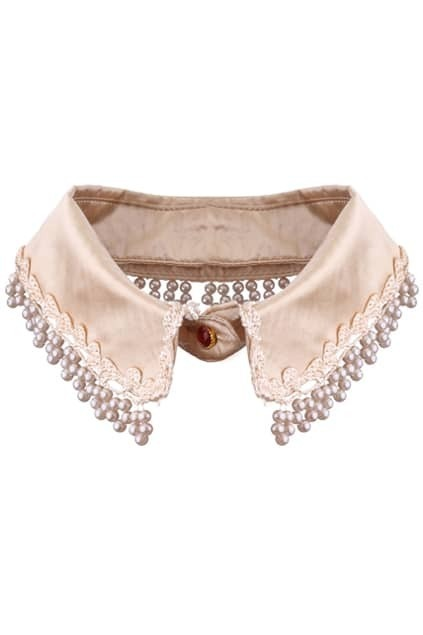 Multi-bead Trim Nude Collar