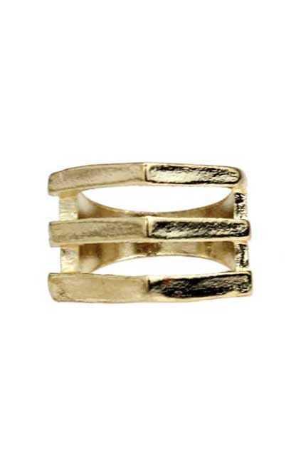 Three Lines Golden Ring