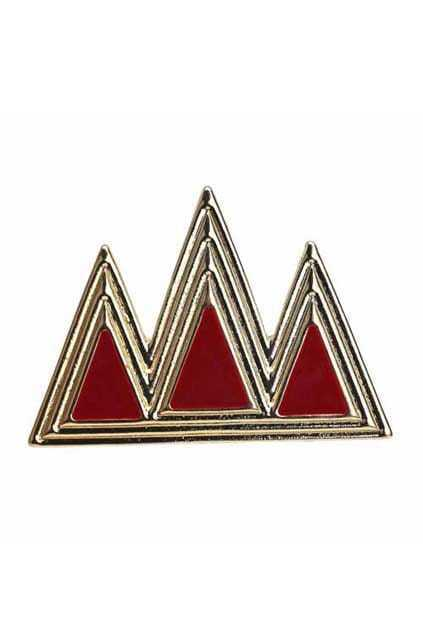 Three Red Triangle Ring