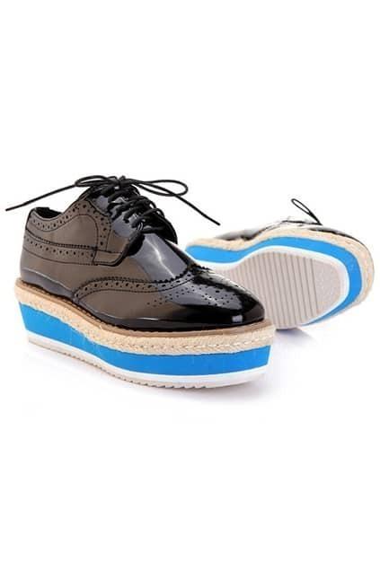 Flat Heel Black Shoes