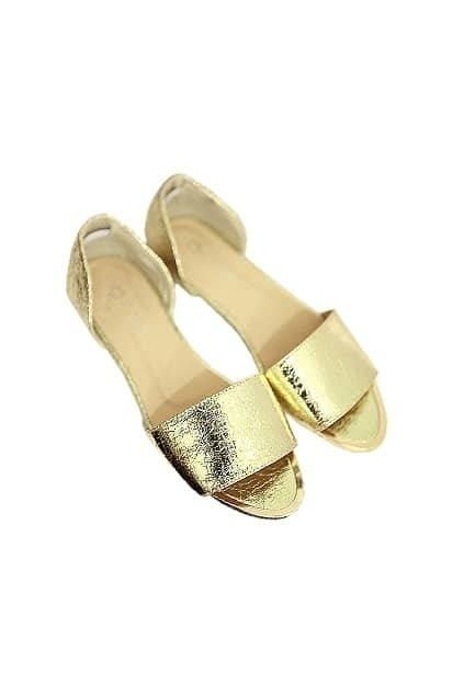 Metal Feeling Golden Sandal