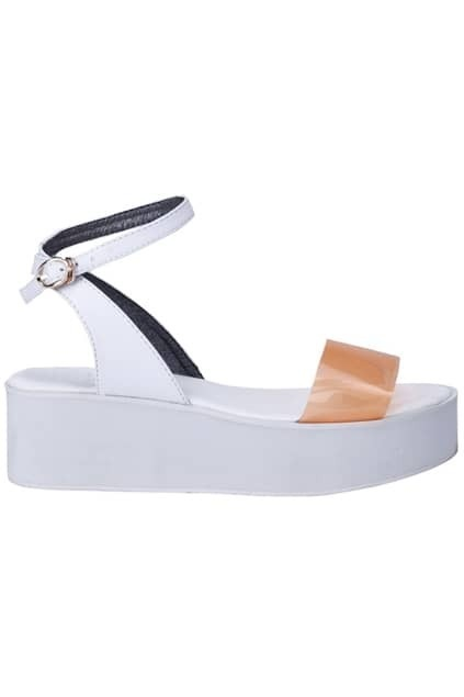 Sheer Strappy Platform Sandals