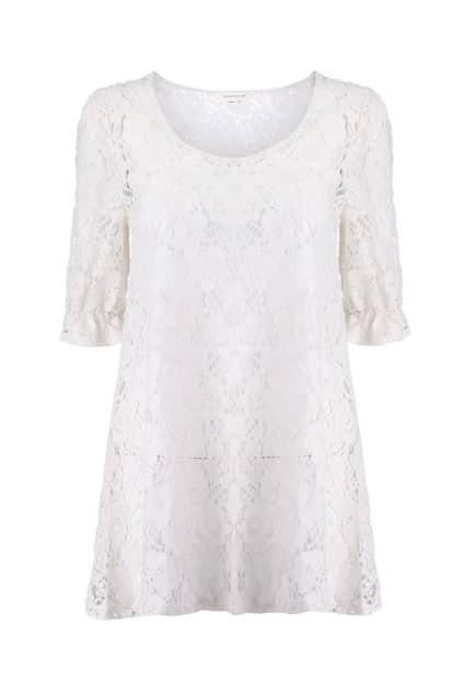 Floral Lace Cream Blouse