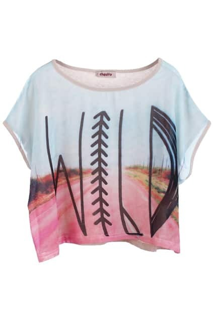 Double Fabric Cropped T-shirt