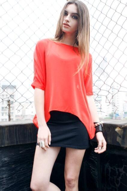 Arc Short Sleeve Red Shirt