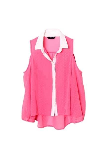 Off Shoulder Pink Shirt