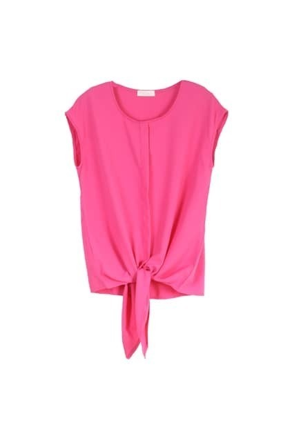 Self-tie Front Rose Blouse
