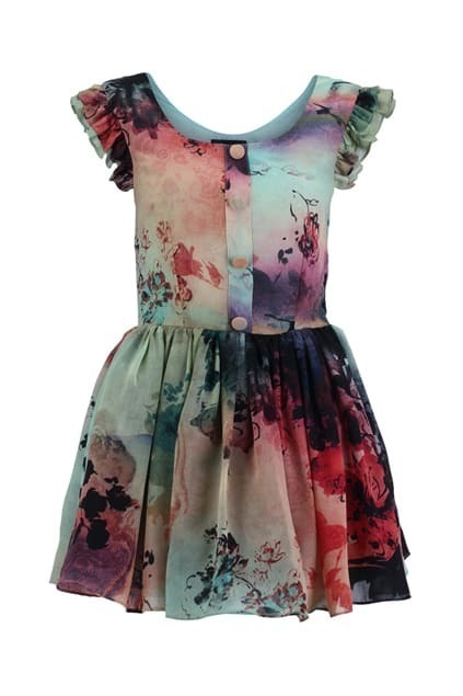 Floral Print Flared Shift Dress