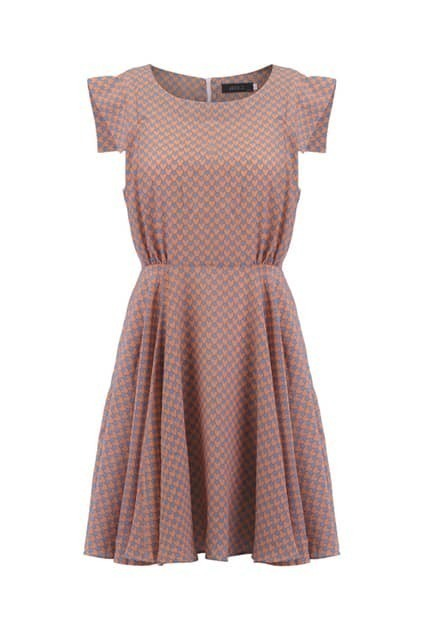 All-over Hearts Print Shift Dress