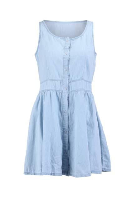 Sky Blue Flared Tank Dress