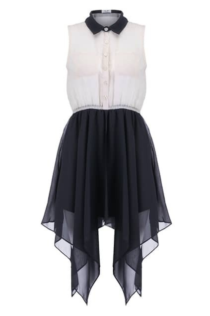 Anomalous Hemline Shirt Dress