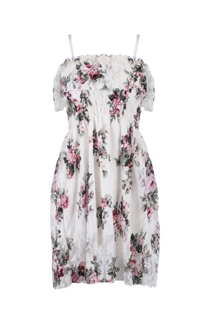 Feminine Floral Bandeau Dress
