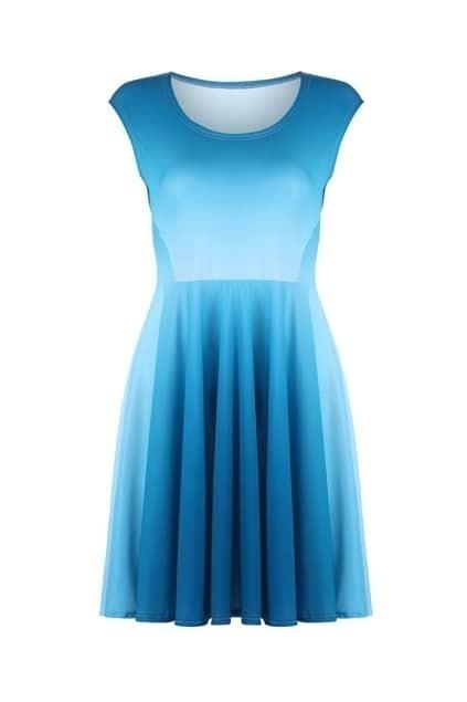 Dip Dye Blue Shift Dress