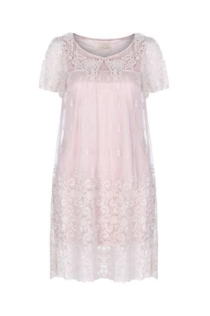 Crochet Lace Overlay Dress