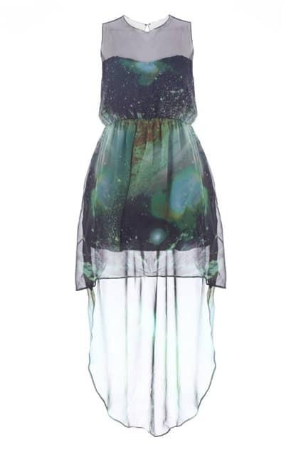 Mesh Upper Anomalous Starry Dress