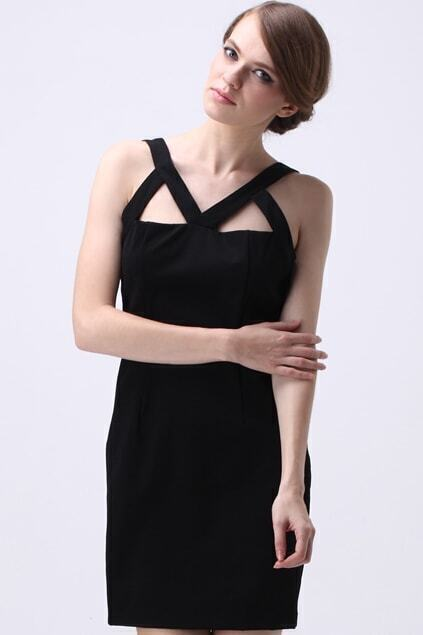 Cut Out Detail Strappy Dress