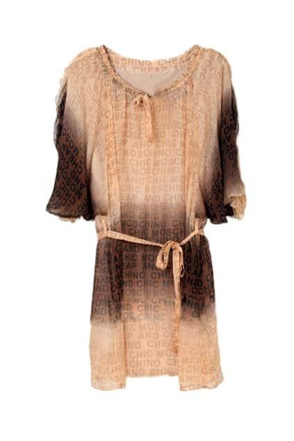 Elegent Letter Half Sleeve Coffee Dress