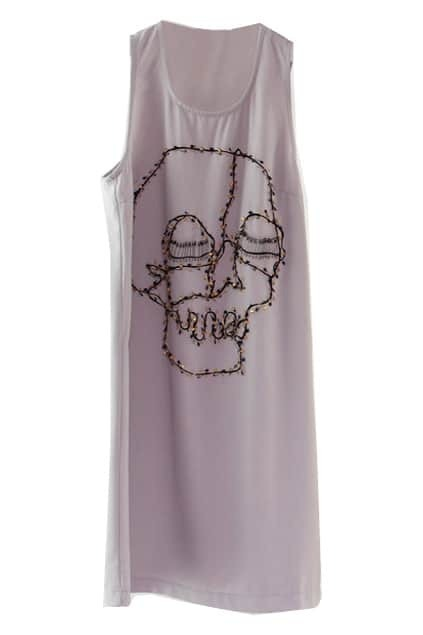 Pin Skull Grey Tank Dress