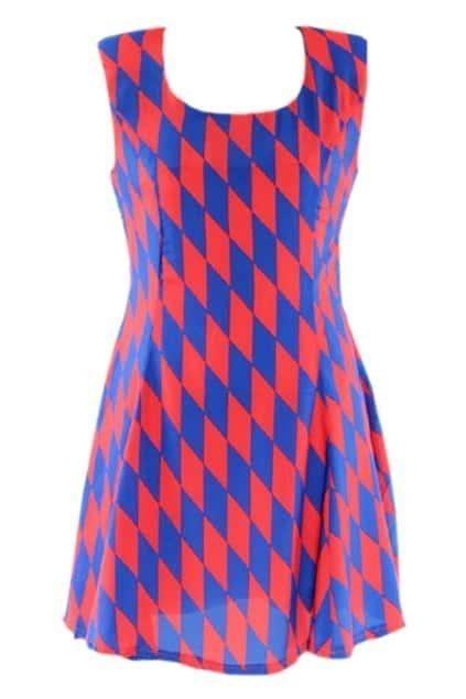 Geometrical Patterning Shift Dress