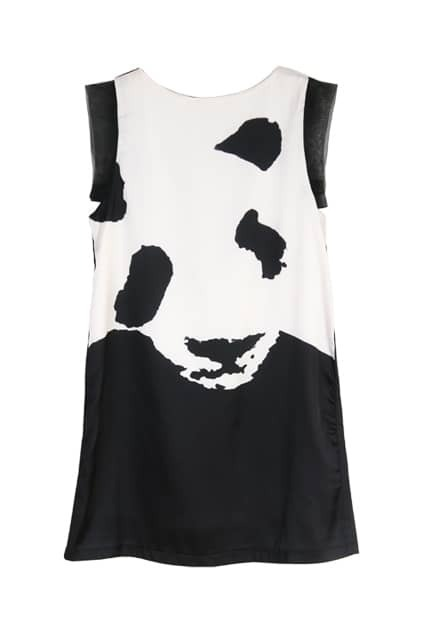 Panda Print Shift Dress