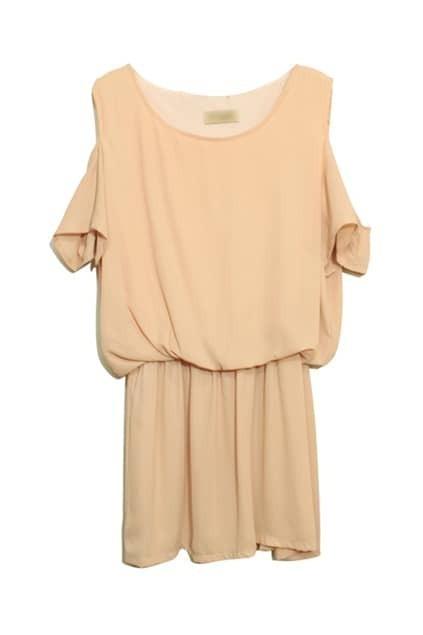 Off Shoulder Apricot Dress