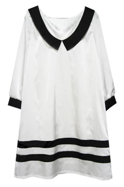 Peter Pan Collar White Dress
