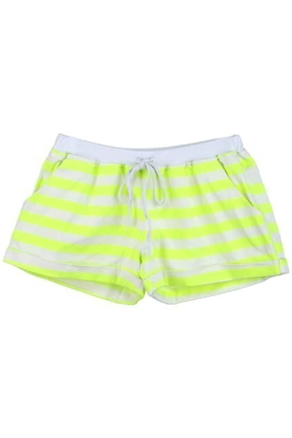 Turn-up Cuffs Striped Shorts