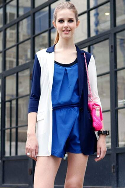 Blue Strap Jumpsuit