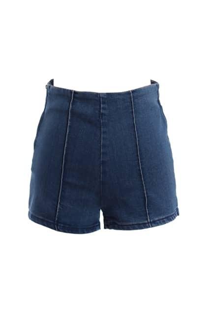 Retro Slim Denim Blue Shorts