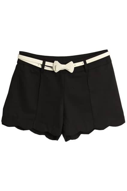 With White Belt Black Shorts