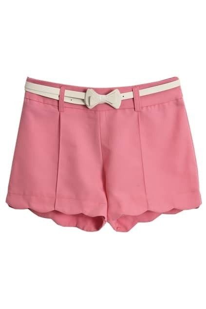 With White Belt Pink Shorts