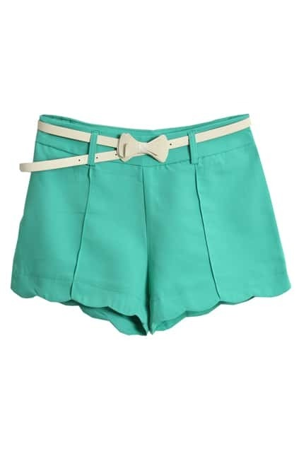 With White Belt Green Shorts