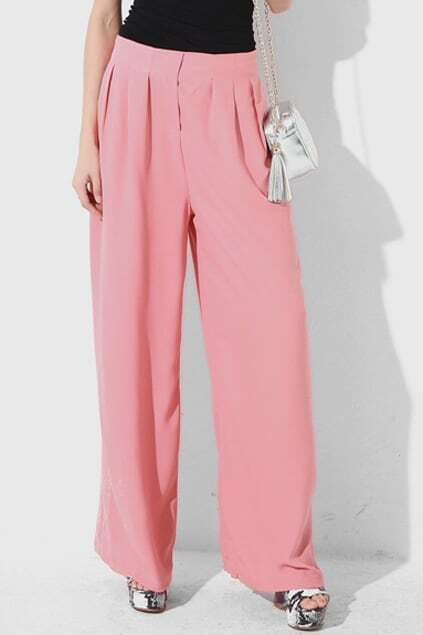 Retro Natural Oversized Pink Pants
