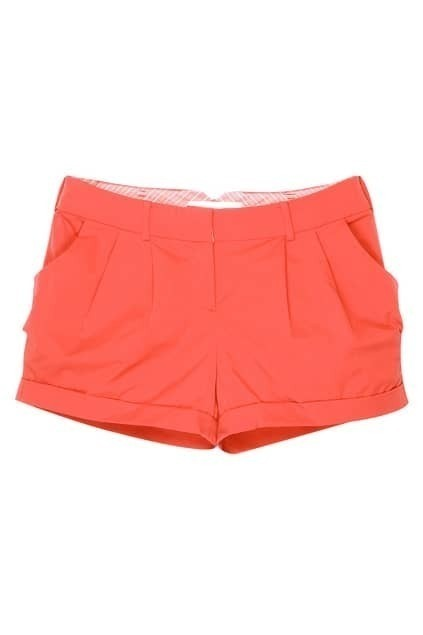 Pleated Red Shorts