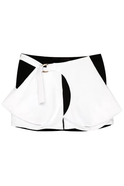 Solid Pockets Color Block Shorts