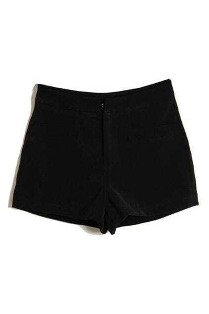 Simple Style Black Shorts