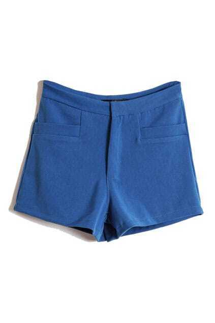 Simple Style Blue Shorts
