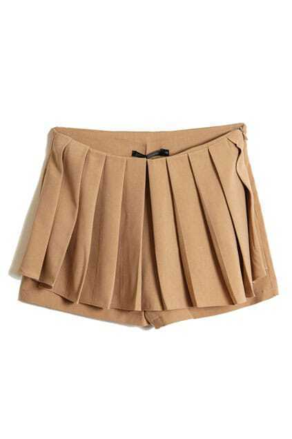 Pleated Front Khaki Shorts
