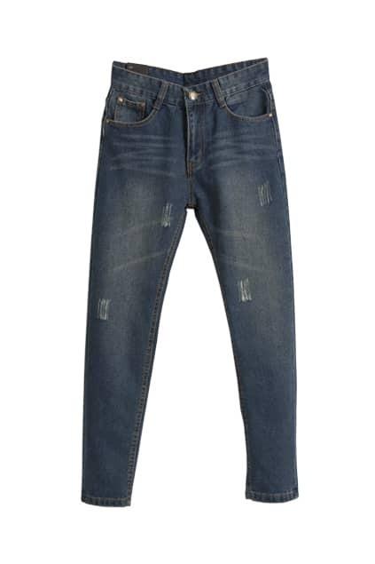 Boyfriend Style Dark Blue Jeans