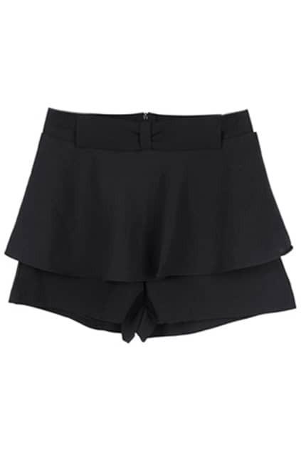 Oversized Bottom Black Culottes