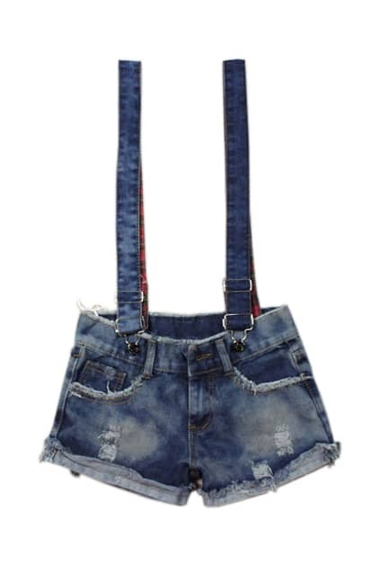 Straps Fashion Denim Shorts
