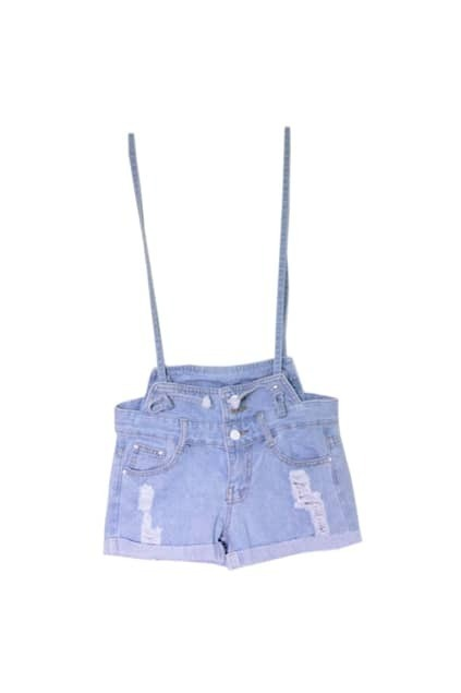 Oversized Edge Curl Denim Shorts