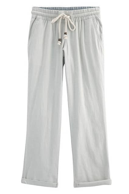 Casual Style Cream Pants