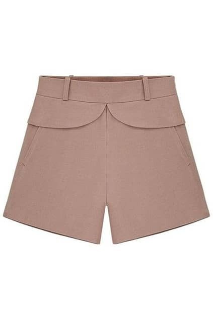 Fitted Waist Pink Shorts