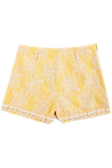 Beads Lace Square Bottom Shorts