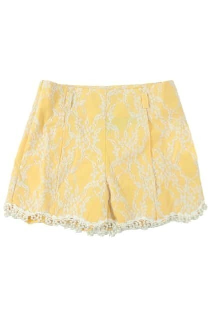 Beads Lace Wave-like Bottom Shorts