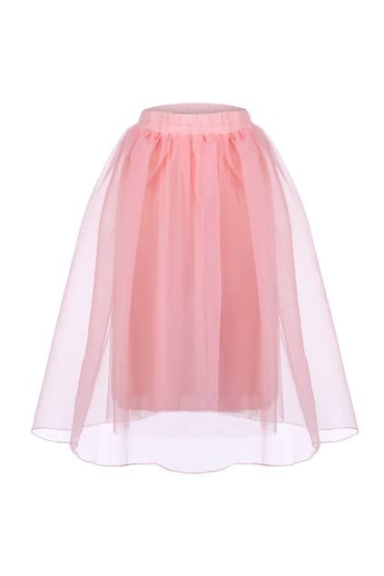 Layered Pink Puff Skirt
