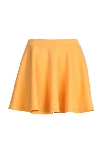 Lemon Jersey Skater Skirt