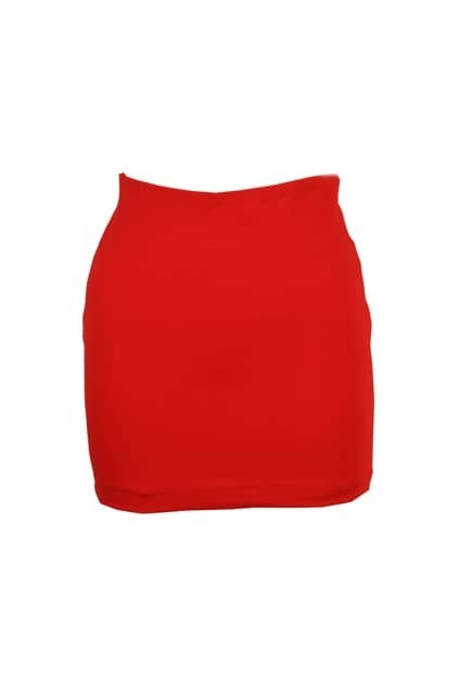 Skinny Empire Waist Red Skirt
