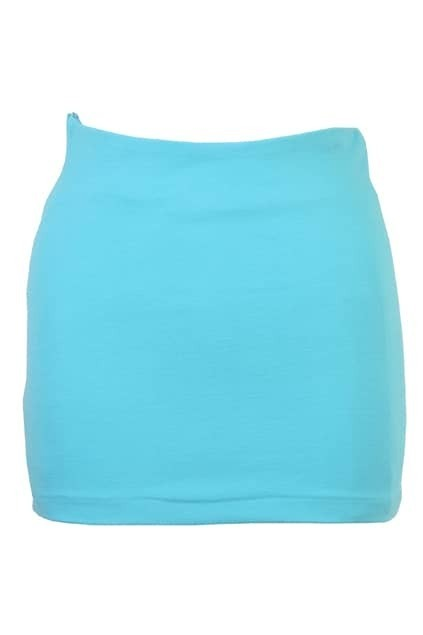 Skinny Empire Waist Pink-blue Skirt